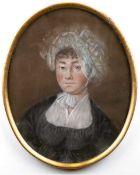 """Weidner, Joseph (1801 Wien-1870/71 ) Paar Porträt """"Dame mit weißer Haube"""" und """"Herr imAnzug"""