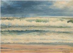 "Ranbol, A.S. ""Meeresbrandung"", Öl/Lw., sign. u.r., 41x53 cm, Rahmen"