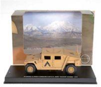 """Militärfahrzeug """"Befehlswagen-US-Army"""", Firma Schuco, Modell 1:43, im Originalkarton, L.10,5"""
