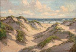 """Holmgaard, Chr. (Dänischer Maler 20. Jh.) """"Dünenlandschaft"""", Öl/Lw., sign. u.r., 65x90 cm,"""