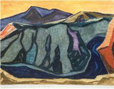 """Landschaftsmaler des 20. Jh. """"Macedonische Landschaft"""", Aquarell, undeutl. sign. u.r.,31x40 c"""