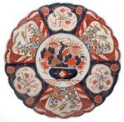Imari-Platte, Porzellan, Japan, Meiji-Periode, 19. Jh., mit einem Imari-Muster von Vase inzen