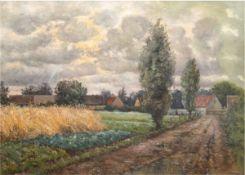 "Cerny, Walter, Charles (1892-1965) ""Norddeutsche Dorflandschaft"", Öl/Lw., sign. u.r.,75x100"
