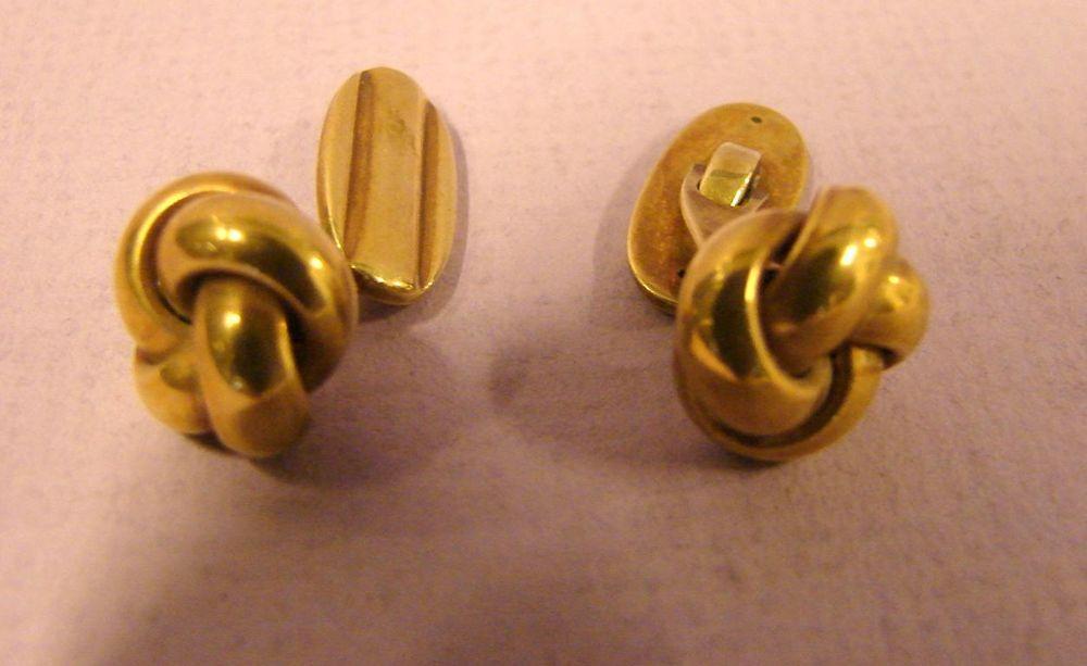 Paar Manschettenknöpfe, 585er Gold, ca. 6 Gramm