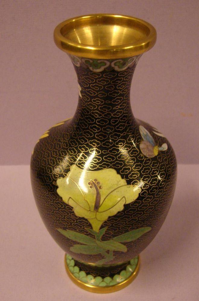 Vase, Cloisonné, Höhe ca. 19 cm