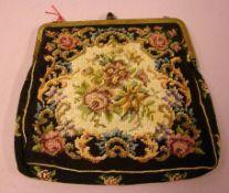 Damenhandtasche, Petit Point, ca. 16 x 15 cm