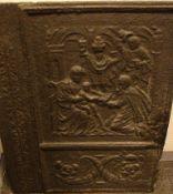 Ofenplatte, Figurendarstellungen, ca. 57 x 70 cm
