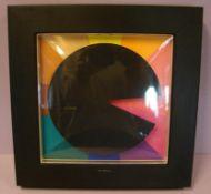 Wanduhr, modern, Metall, sig. Harlan, Tian (dt. Künstler), ca. 27x27 cm