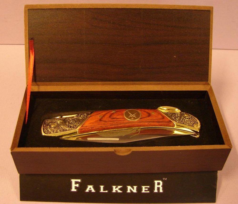 Jagdmesser, Fa. Falkner, Sammlerstück, orig. verpackt, Karton ca. 16x7 cm