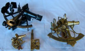 4 verschiedene Sextanten, Messing/Metall, bez. Smith & Son, London; Tamaya & Co Ltd.; 4