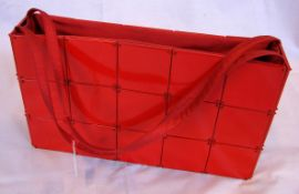 Handtasche, Lack, Japan, ca. 26 x 15 cm, guter Zustand