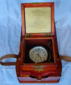 Marine Chronometer, Poljot, First Moscow Wath Factory, im Holzkasten, Caliber 85mm