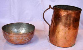 Kupfertopf, Kanne, Messingleuchter