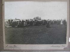 "Hees, L. van, Alte Fotografie ""Soldaten und Geschütze"", bez. ""Landsberg am Lech"", 19,5 x 28 cm, o."