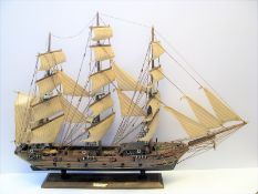 "Modellschiff ""Fragatta Siglo XVIII"", 64 x 84 x 15 cm."