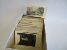 Sammlung von ca. 455 alten Gruß- und Ansichtskarten.