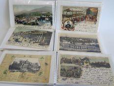 3 Sammelmappen mit ca. 121 diversen Ansichtskarten.