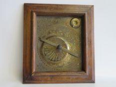 Sternzeichenbild, Messing, 22 x 19 cm, R.
