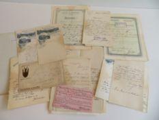 Sammlung von 21 diversen Zeugnissen und Zertifikaten des Hoteldirektors Fritz Valentin Heim,