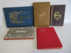 5 Poesiealben, um 1900.