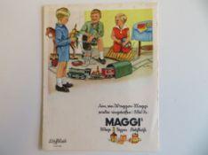 Originalplakat, Maggi, 21 x 16 cm.
