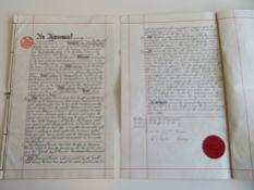 2 Arbeitsverträge des The Picadilly Hotel London, betreffend den Posten des Generaldirektors und des
