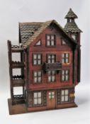 """Modellhaus """"Villa Wera"""", um 1900, best., 43 x 29 x 18 cm."""