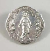 """""""Wundertätige Medaille"""" / Brosche """"Maria sine labe concepta - ora pro nobis"""", Silber gepr., Gew.12,"""