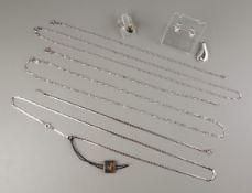 Konvolut Silberschmuck, 925er Silber, Gesamt-Gew.12,15g; Anhänger und Paar Ohrs