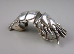Ganzfingerring / Gelenkring, 925er Silber, Gew.70,37g, in Form einer Garnele, G