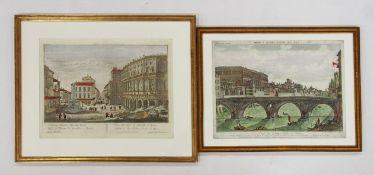 Zwei Guckkastenblätter mit Rom-Ansichten