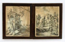 Paar Kupferstiche 17. Jahrhundert