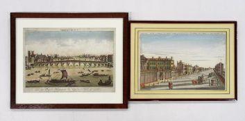 Zwei Guckkastenblätter mit London-Ansichten