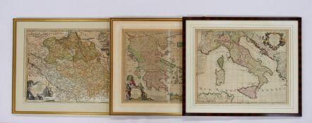 Drei Karten des 18. Jahrhunderts