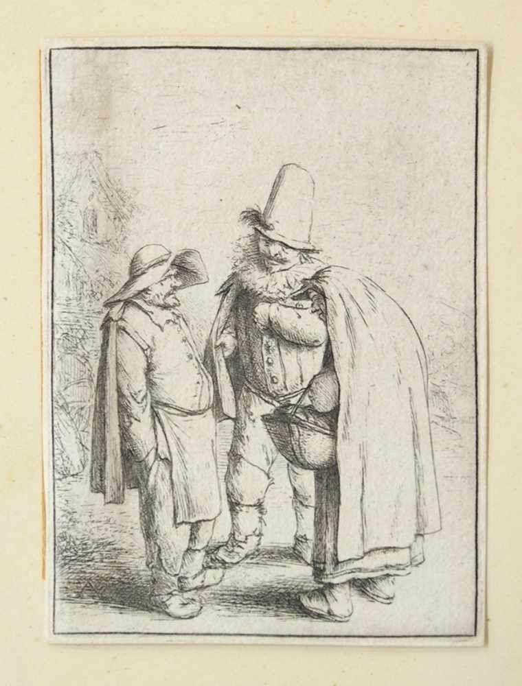 OSTADE, Adriaen1610-1685Dir drei grotesken FigurenRadierung, 8,7 x 6,4 cm