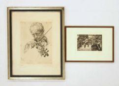 ZILLE, Heinrich1858-1929Ringkampf in der SchaubudeLithographie, 1903, Stempelsignatur unten