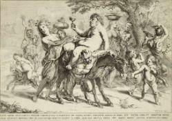POPELS, Johannes1590-1663Der Triumph des BacchusRadierung (nach P.P. Rubens), 33,5 x 48 cm (