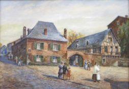 RECKER, Heinrich1862-1932Alt Köln HeezekümpcheAquarell auf Karton, signiert unten links, verso
