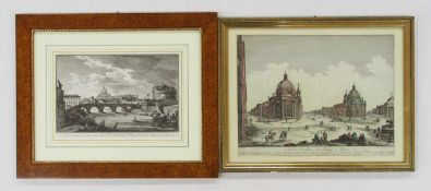 VASI, Giuseppe1710-1782Ansicht von Petersdom und EngelsburgKupferstich / Radierung, 22 x 32 cm,