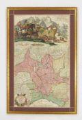 MORTIER, Pierre1661-1711Le grand teatre de la guerre en ItalieKupferstich, koloriert, 96 x 60 cm,
