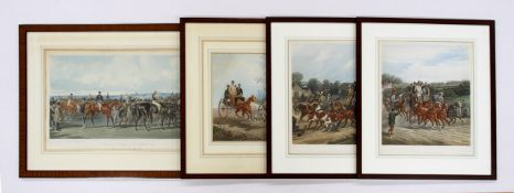 HERING, John F.1815-1907Racing (Plate 4)nach, Farbaquatinta von J. Harris / W. Summers, 40 x 65
