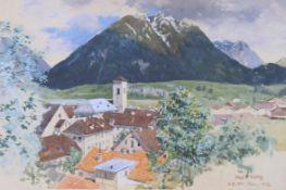 PLATZ, Ernst Heinrich1867-1940Reutte in TirolAquarell auf Papier, signiert und datiert (19)02