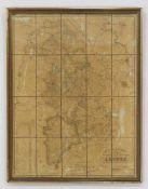 """Kraus Specialkarte des Regierungs-Bezirks Aachen""""gezeichnet durch J. Landes, gravirt von W."""
