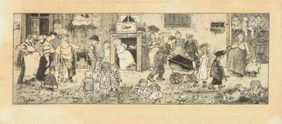 ZILLE, Heinrich1858-1929Zur Mutter ErdeHeliogravur, in der Platte sig., 30,5 x 59 cm, gerahmt