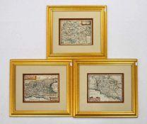 KEERE, Peter van den1571-1646Zwei Karten ItalienKupferstiche, koloriert, 16 x 20 cm, gerahmt unter