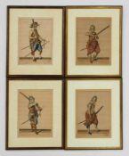 GHEYN, Jacob de1565-16294 Landsknechteaus: Wappenhandelinghe van Roers ..., Den Haag 1608,
