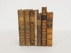 Konvolut von 7 Büchern Klassischer Autoren aus dem 18. Jahrhundert