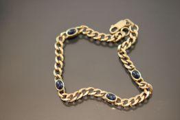 Saphir-Armband, 585 Gold