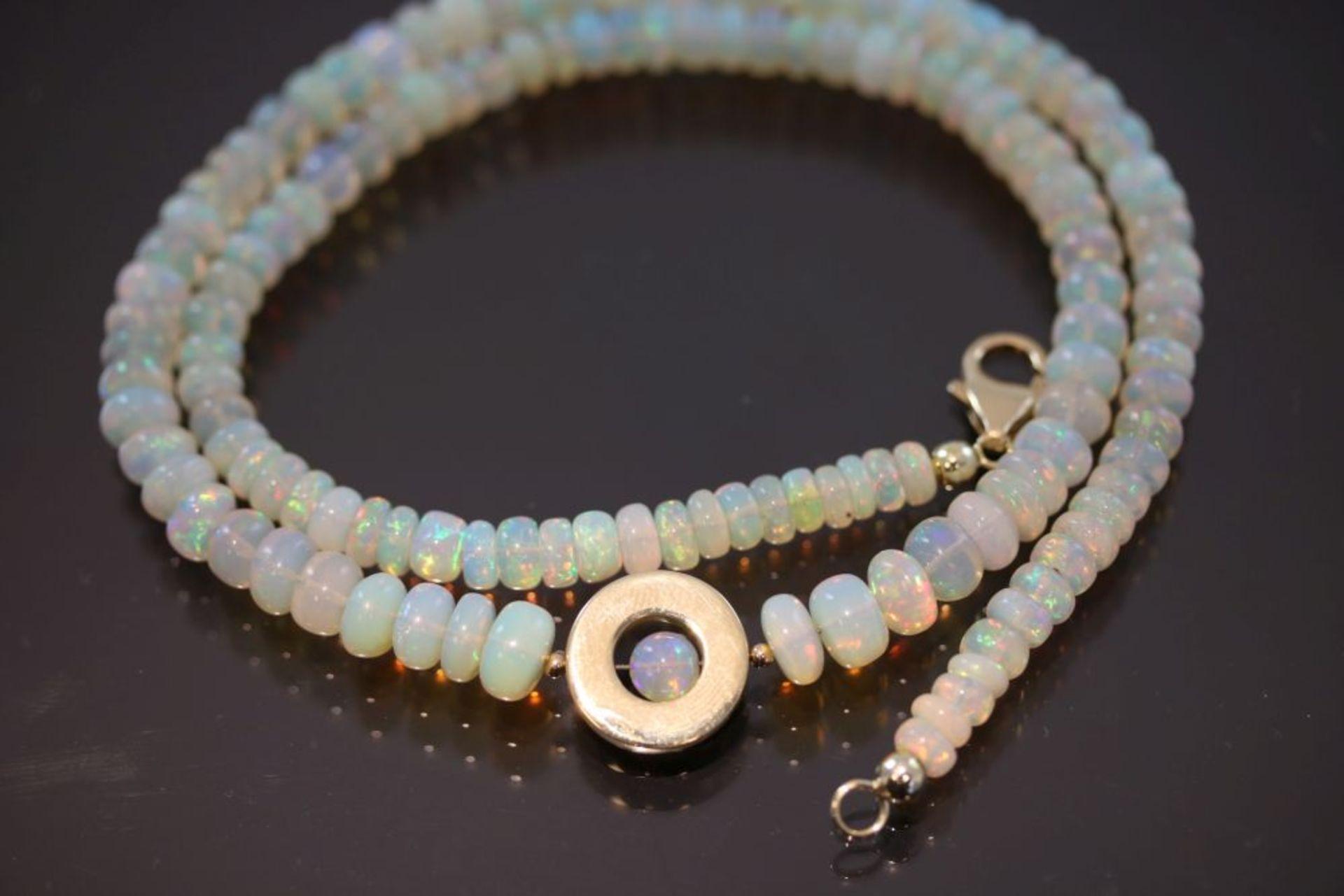 Opal-Collier, 585 Gold - Bild 2 aus 3