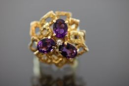 Amethyst-Ring, 585 Gold